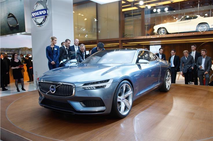 Volvo showcased a 395bhp concept coupe.