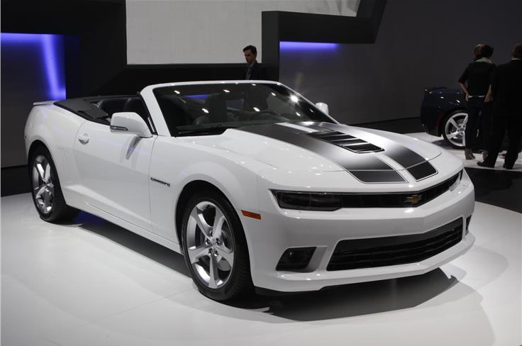 Chevrolet debuted revised Camaro coupes and covertibles.