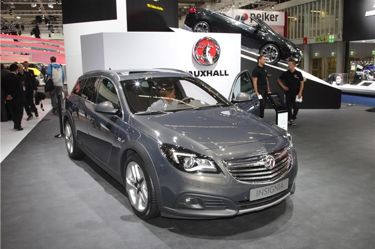 The Audi A6-rivalling Vauxhall Insignia Country Tourer was displayed.
