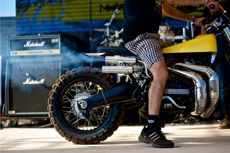 The smell of a motorcycle festival is a heady mix of petrol, oil and red meat. Photo credit: Abhimanyu Mulchandani