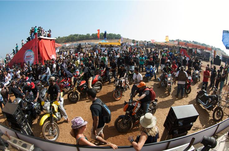 More than 7000 people turned up at the 2nd edition of India Bike Week. Photo Credit: Abhimanyu Mulchandani