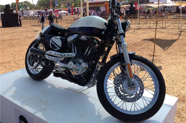 A cafe racer concept based on a Harley