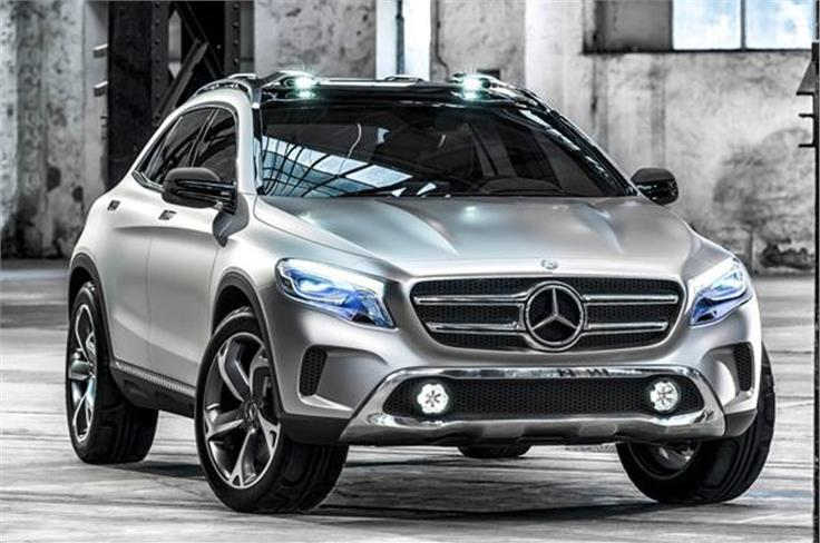 On display at the Auto Expo will be the India-bound GLA SUV, albeit in concept form.