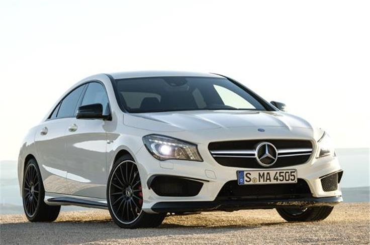 Mercedes will display the CLA 45 AMG sedan which will go on sale later this year