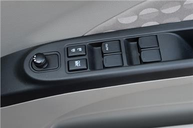 Internally adjustable wing mirrors are standard on the higher variants.