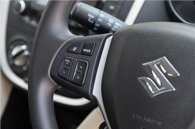 Celerio ZXI also gets steering mounted audio control.