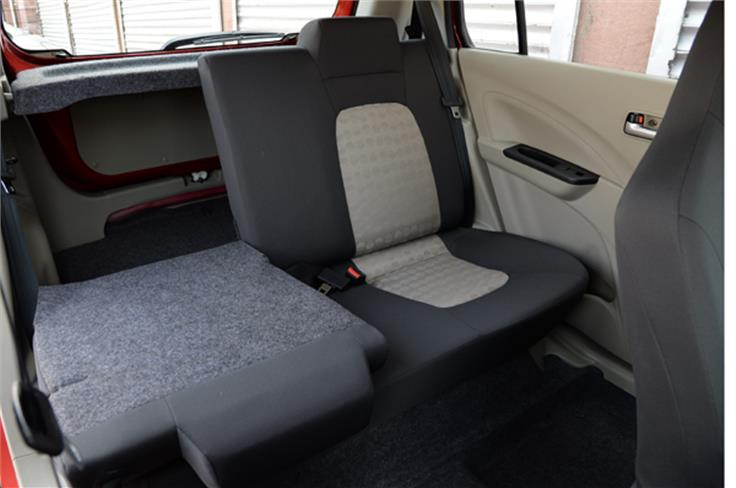 The Celerio also gets a 60:40 split rear seat in some variants.
