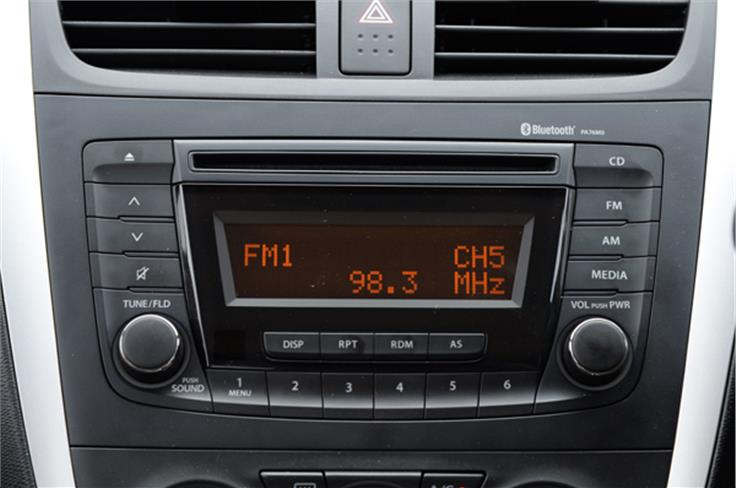 The upper variants of Celerio get a 2-DIN stereo.