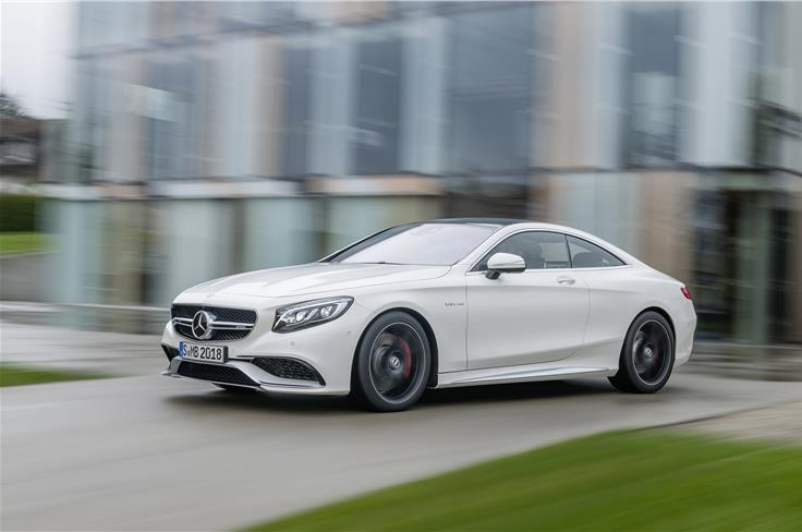 The new S-Class S63 AMG coupe comes with a 577bhp motor.