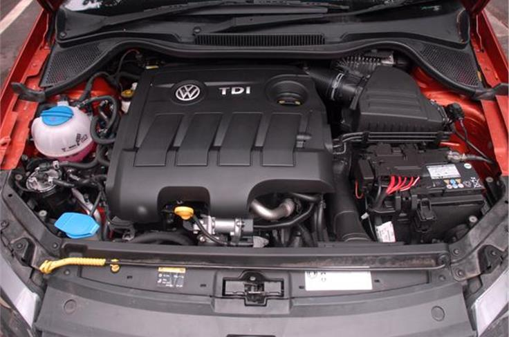 The updated VW Polo gets a new 1.5-litre diesel engine which is available in two states of tune, 89bhp and 104bhp, the latter for the GT TDI.