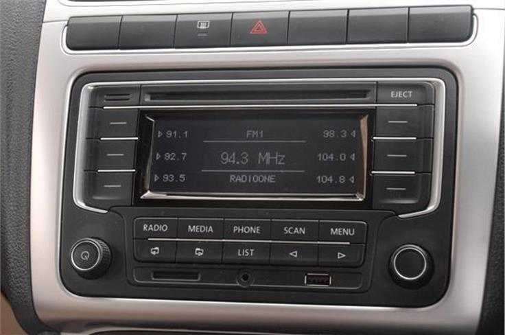 The top-end trim gets the same music system as in the earlier car.