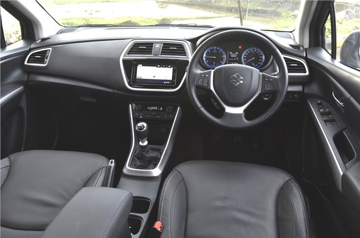 The dashboard of the S-Cross is simplistic and clutter-free.