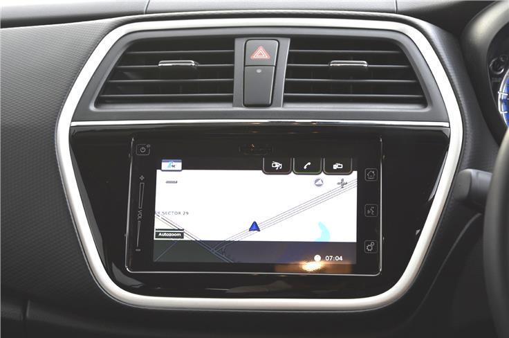 The top-spec model is equipped with Maruti's SmartPlay infotainment system.