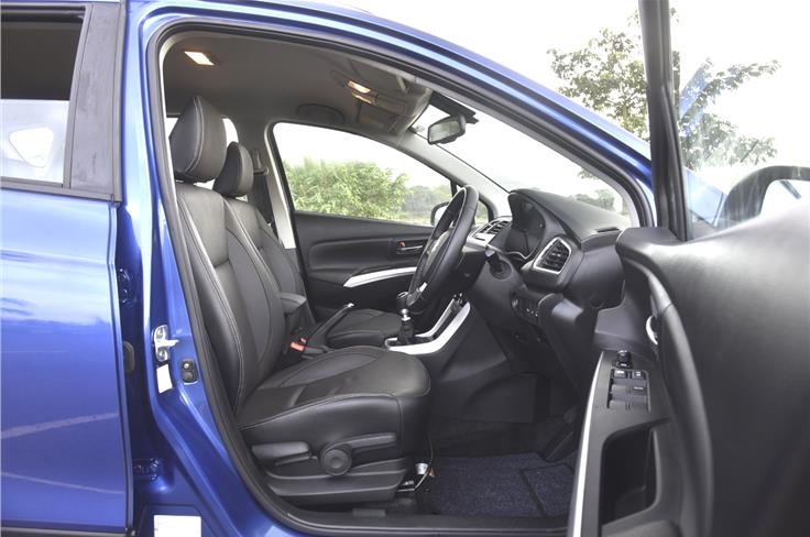 The top-spec S-Cross gets leather upholstery.