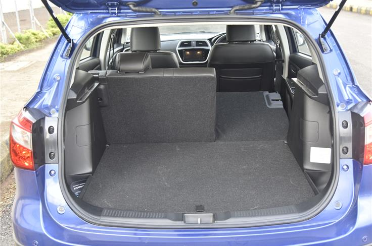 The S-Cross offers 353 litres of boot space which can be increased to 375 litres by the split folding seats.