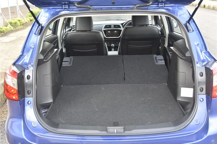 With the rear bench completely folded, the  S-Cross offers 810 litres of boot space.
