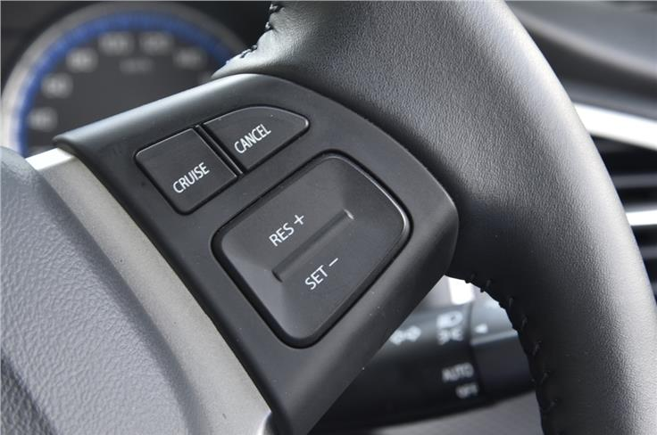 The top-spec S-Cross is equipped with Cruise control.