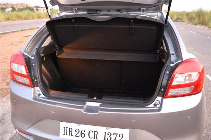 Generous 339-litre boot is way bigger than the one on the Swift.
