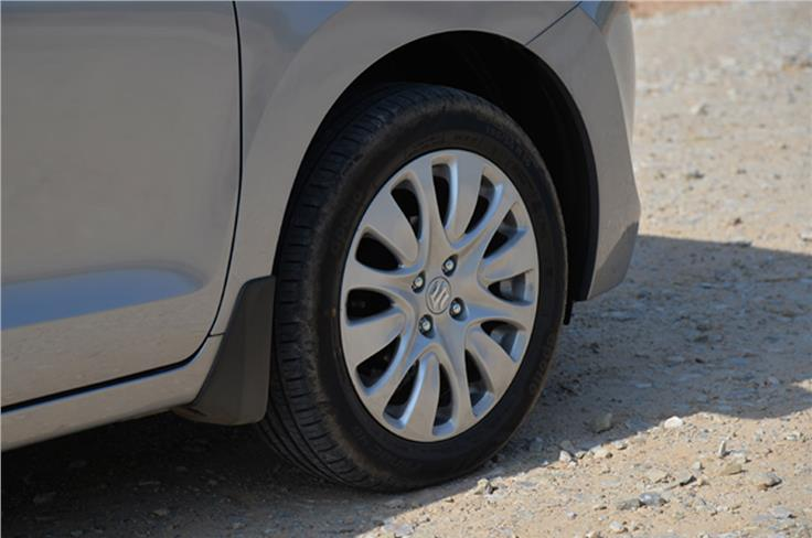 The top-spec Baleno comes equipped with 16-inch alloy wheels.