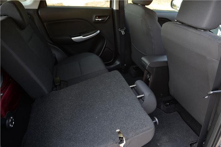 The rear-seats can be folded to increase luggage capacity.