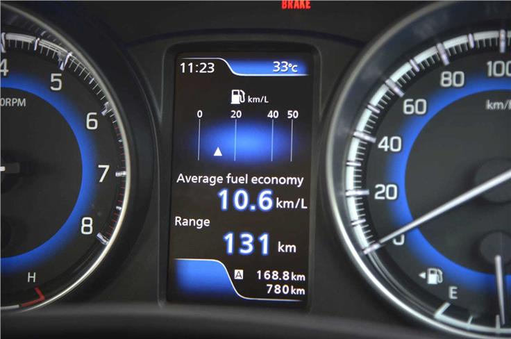 The multi-information display comes equipped with a multitude of functions including real time fuel economy, average speed, range and a unique power and torque meter.