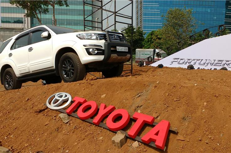Toyota Fortuner off-road event.