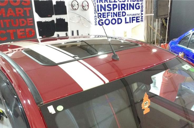 Tata Nano with sunroof.