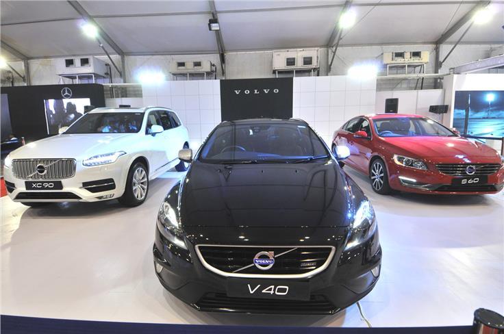 Volvo XC90, Volvo V40, Volvo S60.