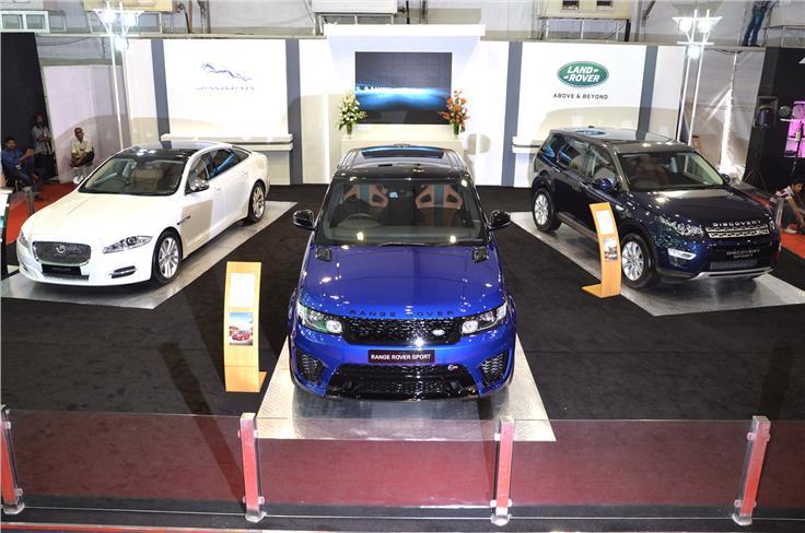 Jaguar XJ L, Range Rover Sport SVR, Land Rover Discovery Sport.