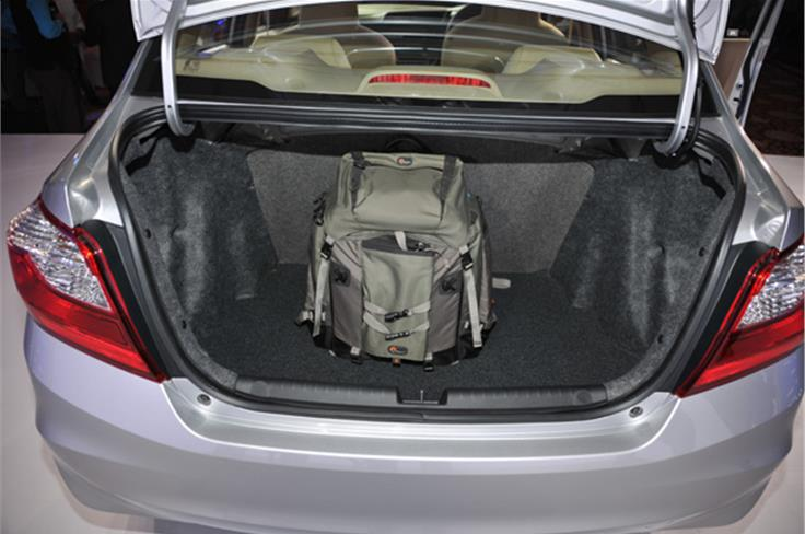 The Amaze's 400-litre boot has always been one of the largest in this class and can swallow quite a bit of luggage with ease.
