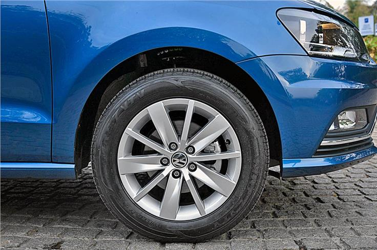 15-inch alloy wheels standard on top trim.