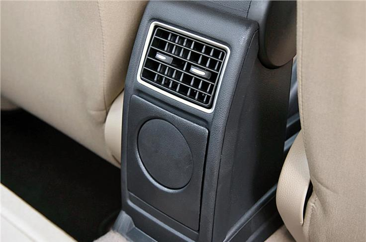 The Volkswagen Ameo is the second model after the Hyundai Xcent to get rear air-con vents.