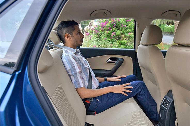 Headroom and thigh support in the Ameo are not too bad, but legroom is a fair way short of what you get in most of the competition.