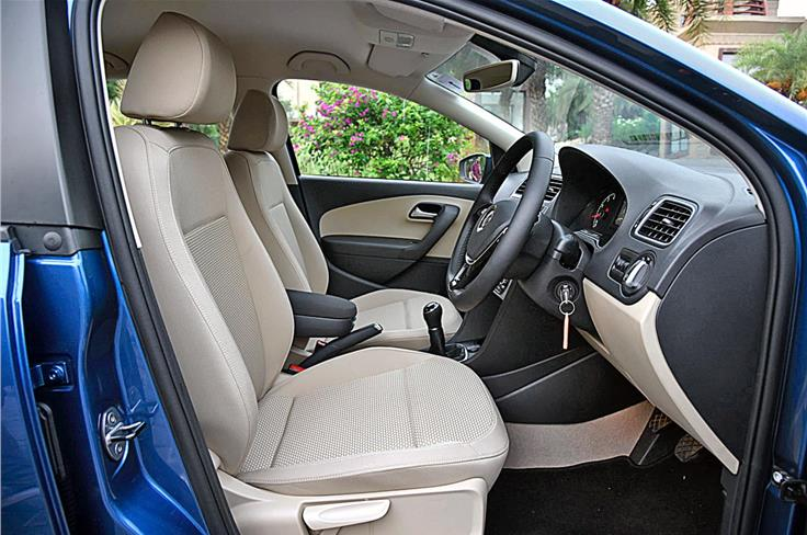 The front seats are nice and supportive with upholstery quality good enough for higher segment cars.