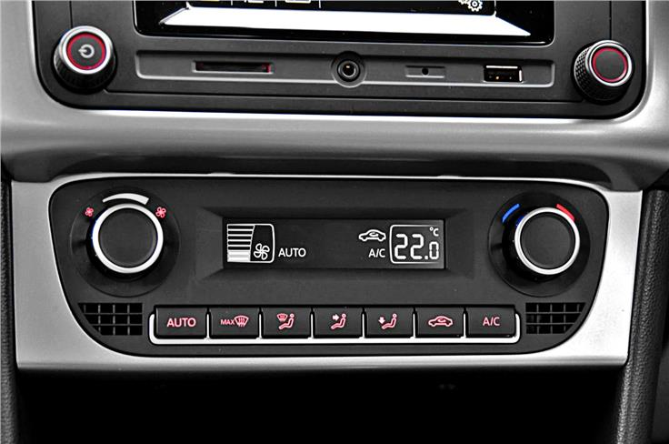 Climate control just one of the many features packed into the Ameo.