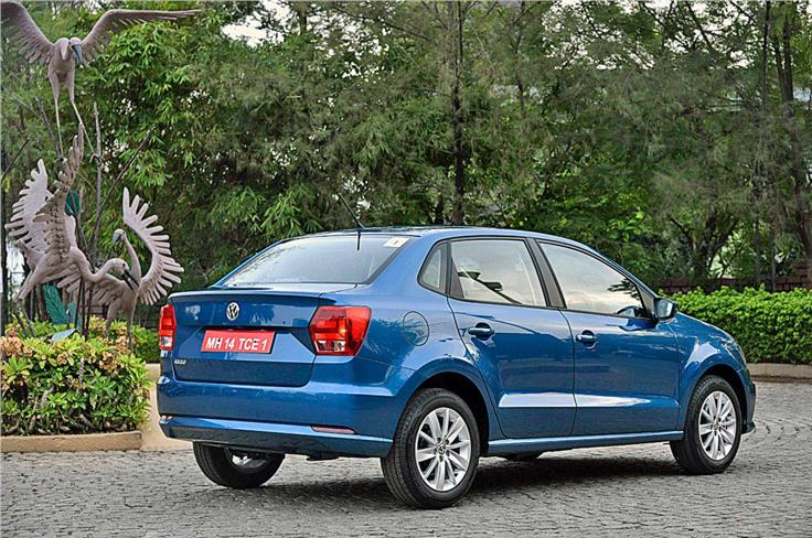 Styling on the whole is near identical to the Polo though the lower roofline gives a better flow to the sedan shape. The boot though looks very upright and truncated.