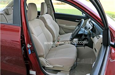 The new front seats are supportive and comfy, and the cushioning feels a bit softer than before. There's ample height adjustment for the driver's seat too.