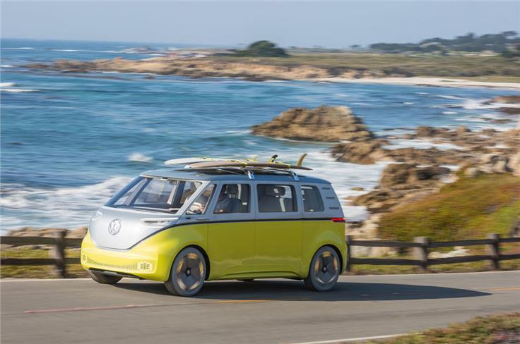 The Volkswagen ID Buzz.