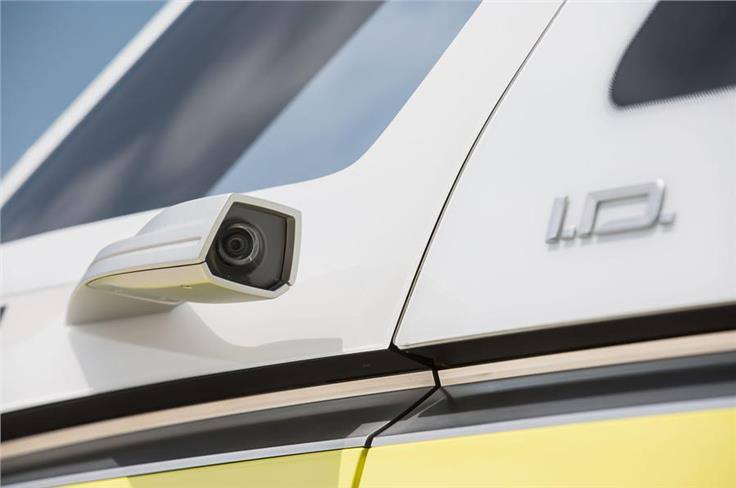 The concept features cameras in place of rear-view mirrors.