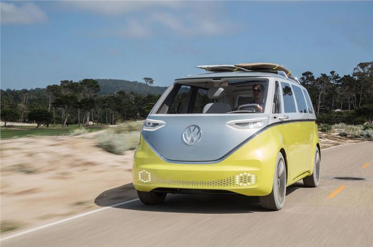 The Volkswagen ID Buzz MPV concept.