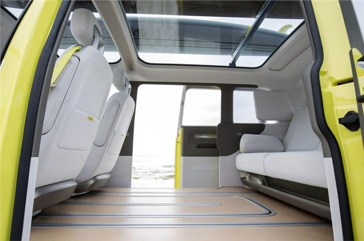 Batteries are located under the floor to maximise space.