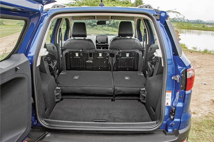Flip-up seat squabs let you free up a bit more storage space in the boot.