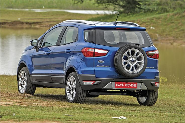Customer feedback has helped the EcoSport retain the tailgate mounted spare.