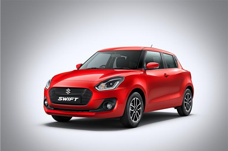 The new Swift meets upcoming Indian crash test norms; comes with two airbags and ABS as standard.