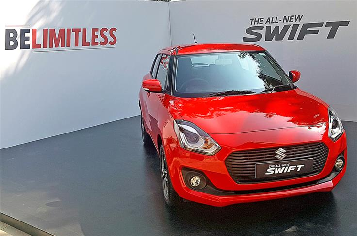 Built on Suzuki's Heartect platform, the new Swift is about 40kg lighter than its predecessor.