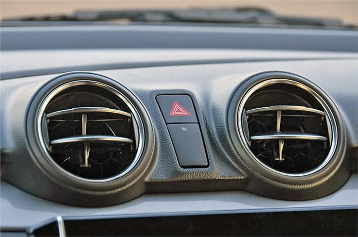Unlike the Dzire, the new Swift's centre air-con vents are rotary type.