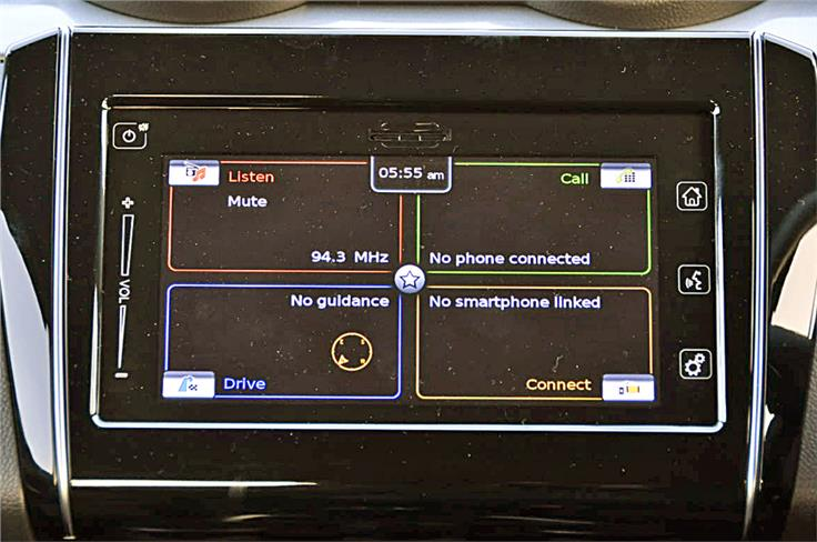 7.0-inch SmartPlay touchscreen on Z+ trim cars features SD card-based navigation and also comes bundled with Android Auto and Apple CarPlay.