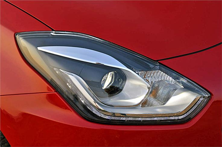 LED projector headlights and LED daytime-running lights only part of fully loaded Zxi+ and Zdi+ trims.