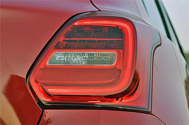 LED element on tail lights standard across the range.