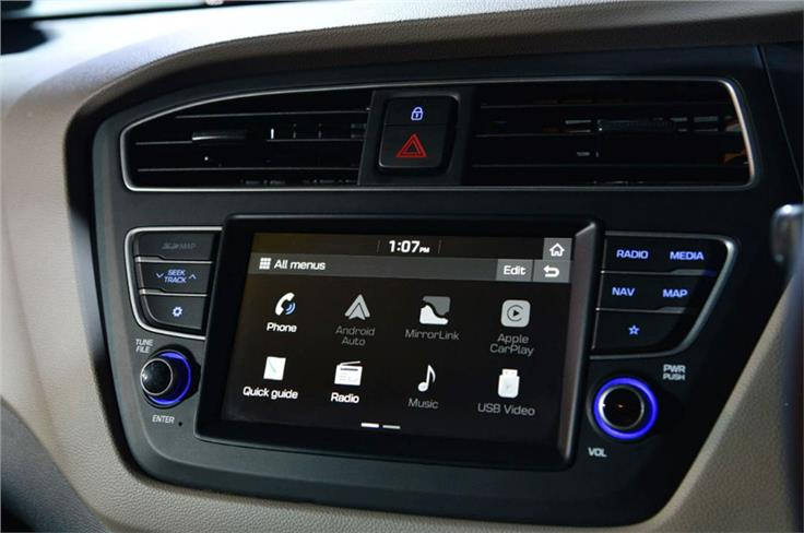 New touchscreen infotainment system with Android Auto and Apple CarPlay.